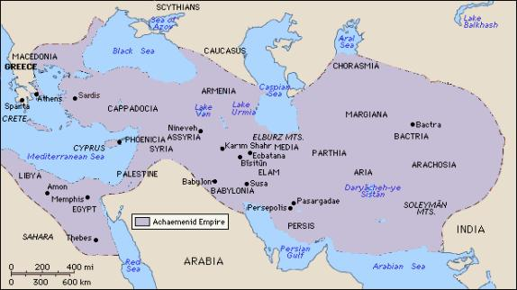 ACHAEMENIAN (PERSIAN) EMPIRE MAP