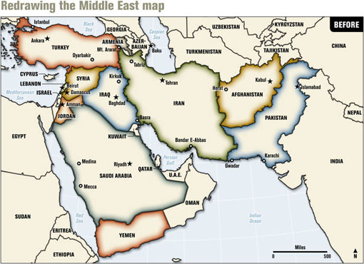 Middle East Map With Countries.Speaking Of Wiping Countries Off The Map Nato S New Middle East Map