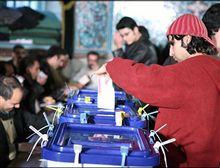 Iran - Iranians were voting in elections for municipal councils and the Assembly of Experts, Tehran, 15Dec2006