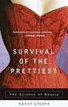 Cover design of Nancy Etcoff's book Survival of the Prettiest shows an hourglass figure in a corset