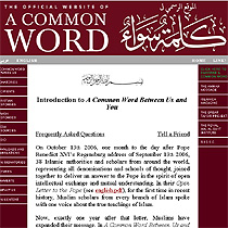 The Web site for A Common Word