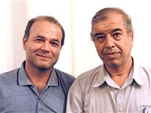 Iran - Mansur Osanlu (L), head of the executive committee of the Syndicate of Workers of Tehran and Suburbs Bus Company (SWTBC), the transport workers' trade union in Tehran and Ibrahim Madadi, Deputy of Osanlu, undated