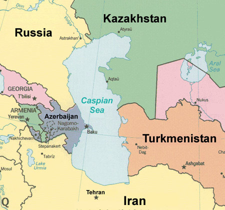 Iran: newly-discovered gas field in the Caspian Sea