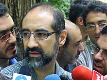 Iran - Kian Tajbaksh, Iranian American social scientist and urban planner talks to reporters at prison, 11Sep2007