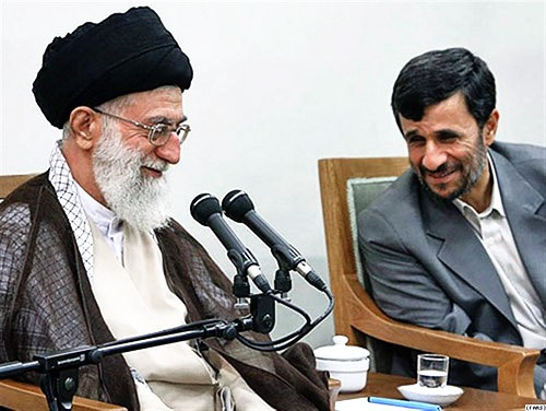 Ayatollah Khamenei with Mahmoud Ahmadinejad