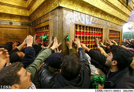 Pilgrims at the shrine of Imam Hussein in Karbala, Iraq