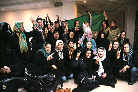 Gathering of women activists in Tehran in March 2010