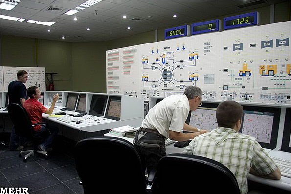 Control room of Bushehr Nuclear Power Plant