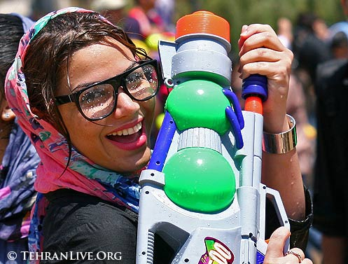 Water Gun Fight in a Tehran Park