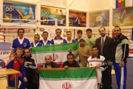 The national Iranian kickboxing team