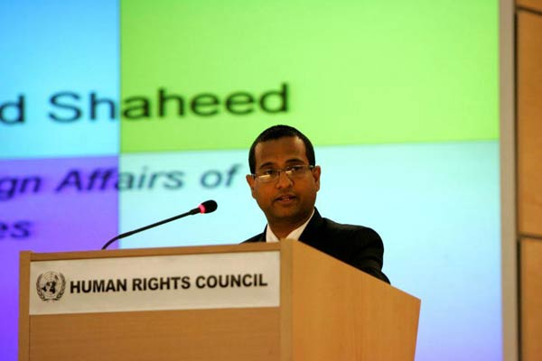 Special Rapporteur on the situation of human rights in Iran Ahmed Shaheed