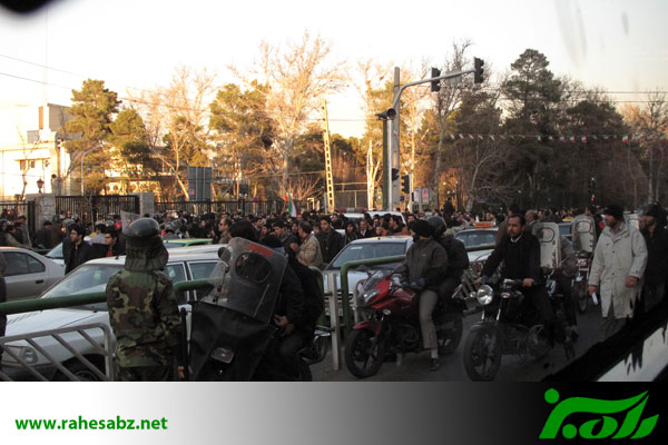 Protesters in Tehran - February 14, 2011