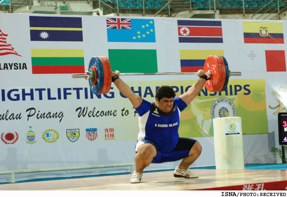 Iranian junior weightlifter Alireza Kazeminejad