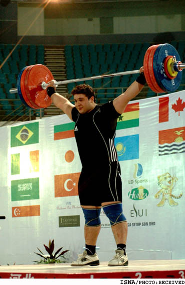 Iranian junior weightlifter Bahador Moulaei