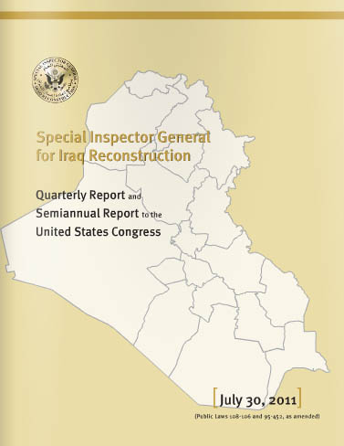 The Special Inspector General for Iraq Reconstruction report