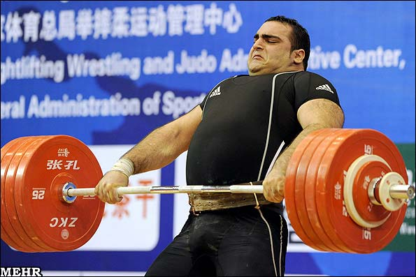 Iranian super heavyweight weightlifter Behdad Salimi