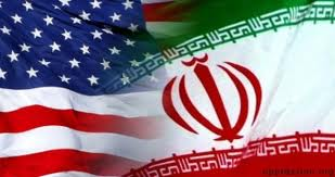 US, Iran flags