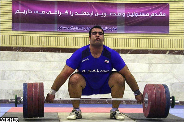 Iran's weightlifter Behdad Salimi has set a new world record in the +105kg category