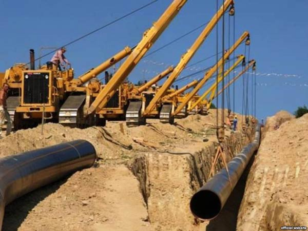 Construction of the Nabucco pipeline
