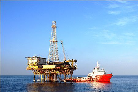 Iran's Reshadat oilfield in Persian Gulf