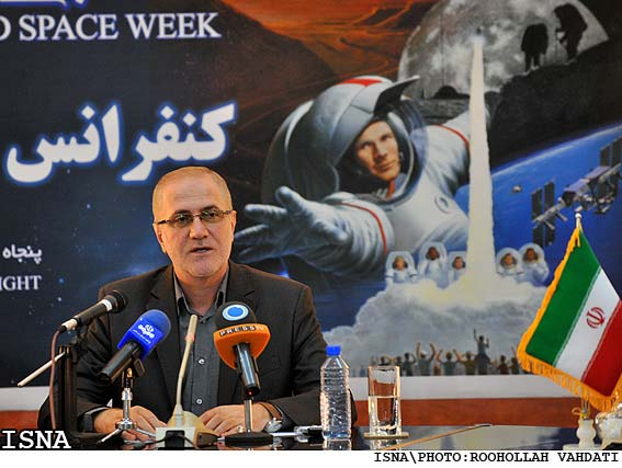 The Head of Iranian Space Agency Hamid Fazeli