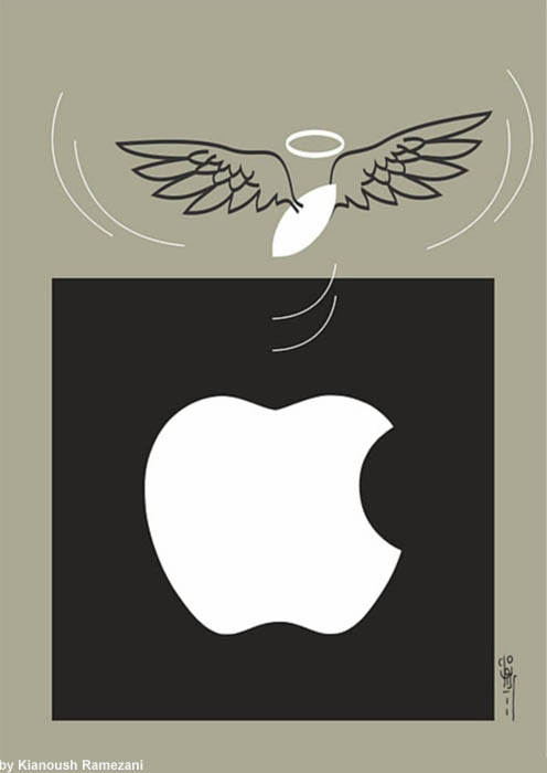 cartoon for Steve Jobs by Kianoush-Ramezani