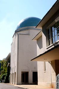 The blue tile dome of the former Iranian Embassy