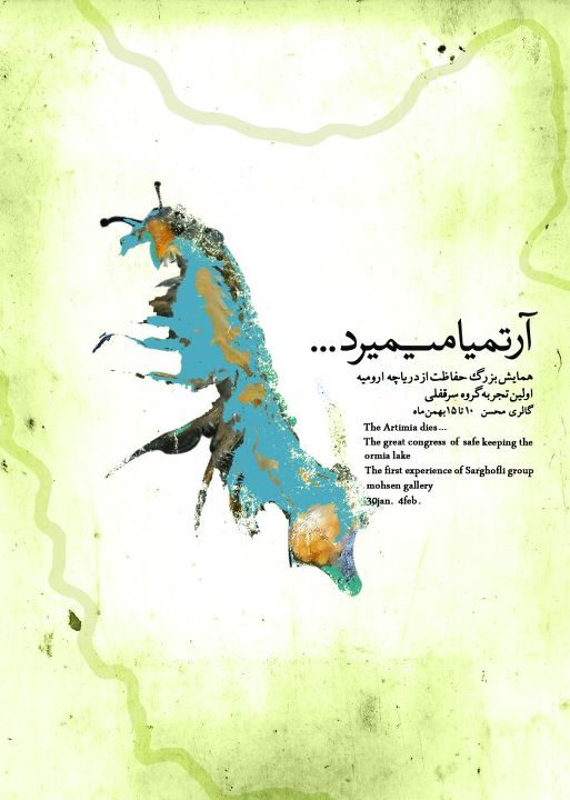Lake Oroumieh artwork by Roghieh Rashidi
