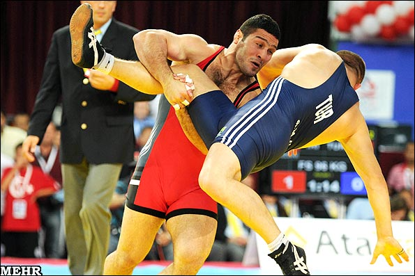 Reza Yazdani won the gold medal in the FILA World Wrestling Championships in Istanbul
