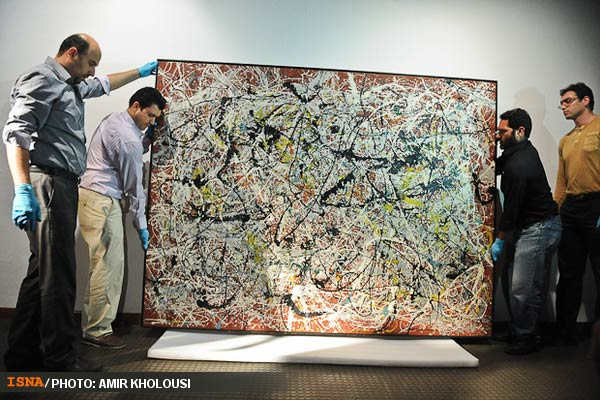 Jackson Pollock Masterpiece Returns To Tehran Museum Of