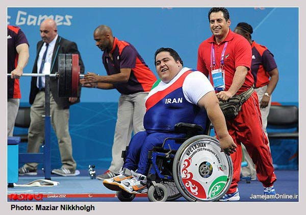 photos iran powerlifter becomes paralympic strongest man