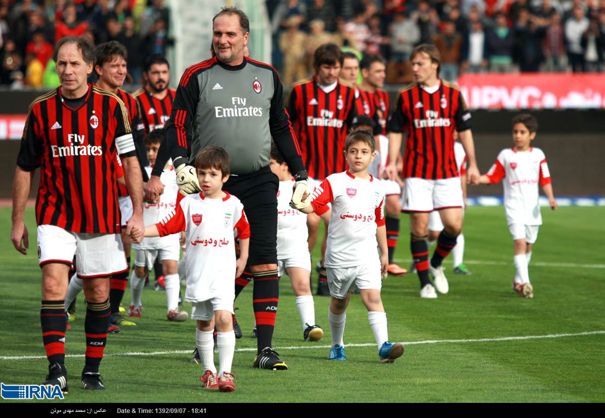Photos Persepolis Fc And Ac Milan Veterans Play Benefit Match In Tehran