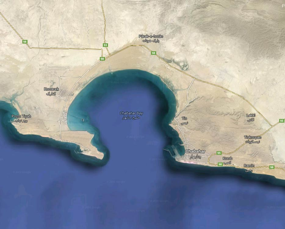 Iran India Afghanistan sign Chabahar transit agreement – Map of Iran and India