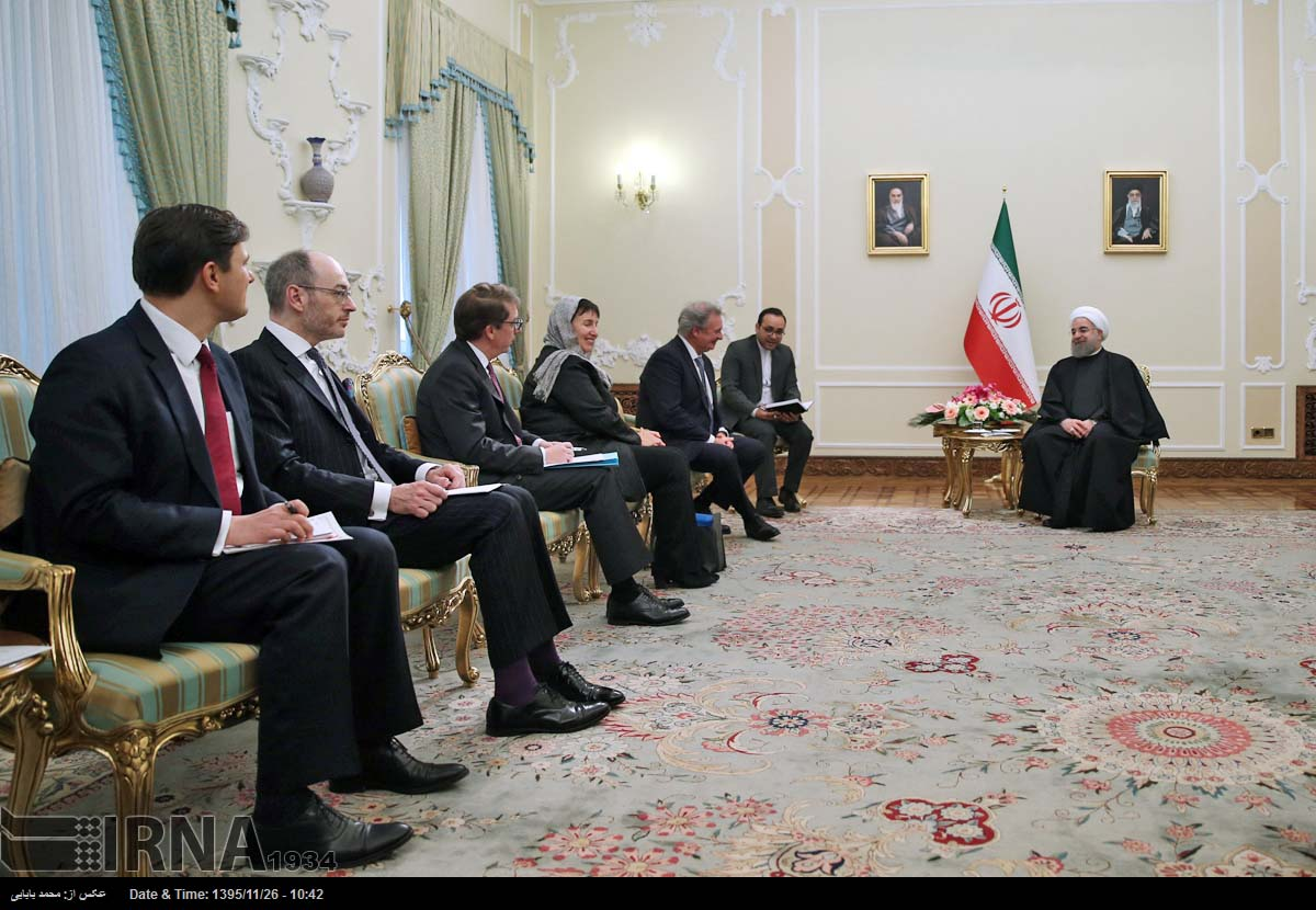 Rouhani: Iran welcomes deepening ties with EU