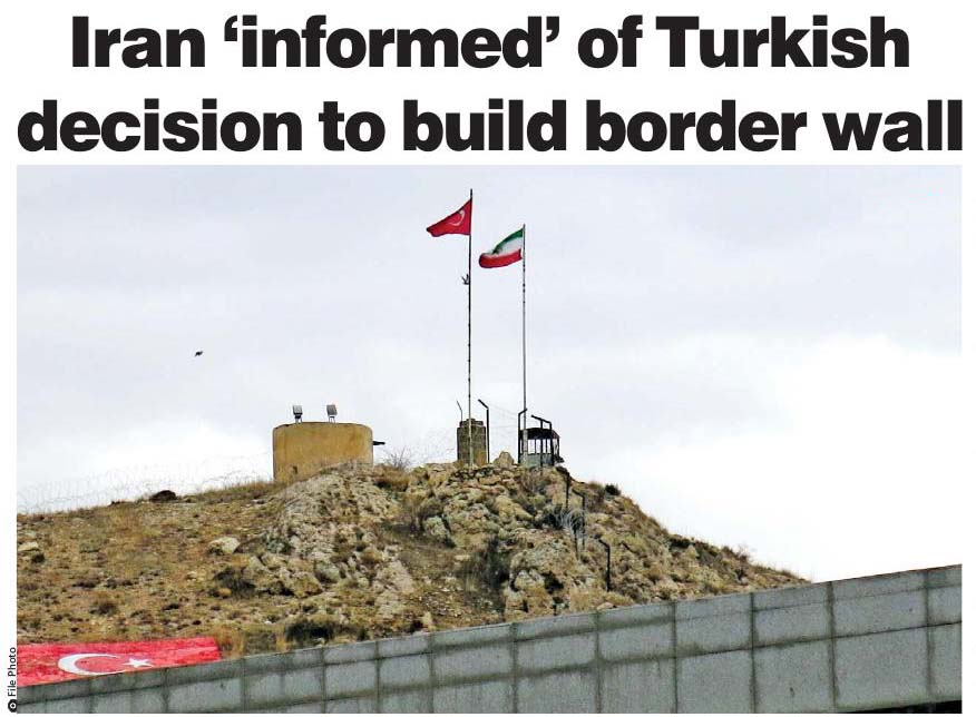 Iranian MFA: We welcome Turkey's plan to build border wall