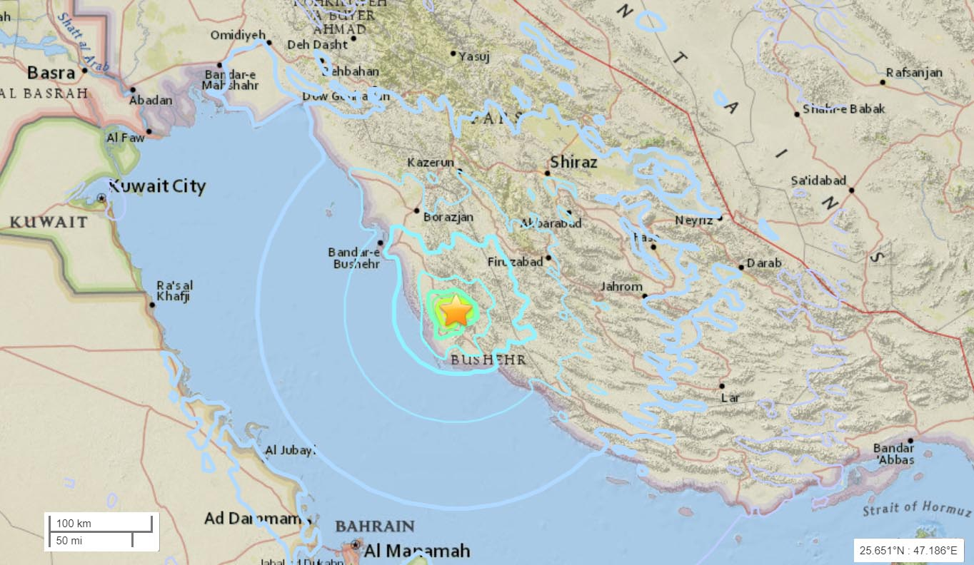 No impact on UAE from Iran quake, says NCM