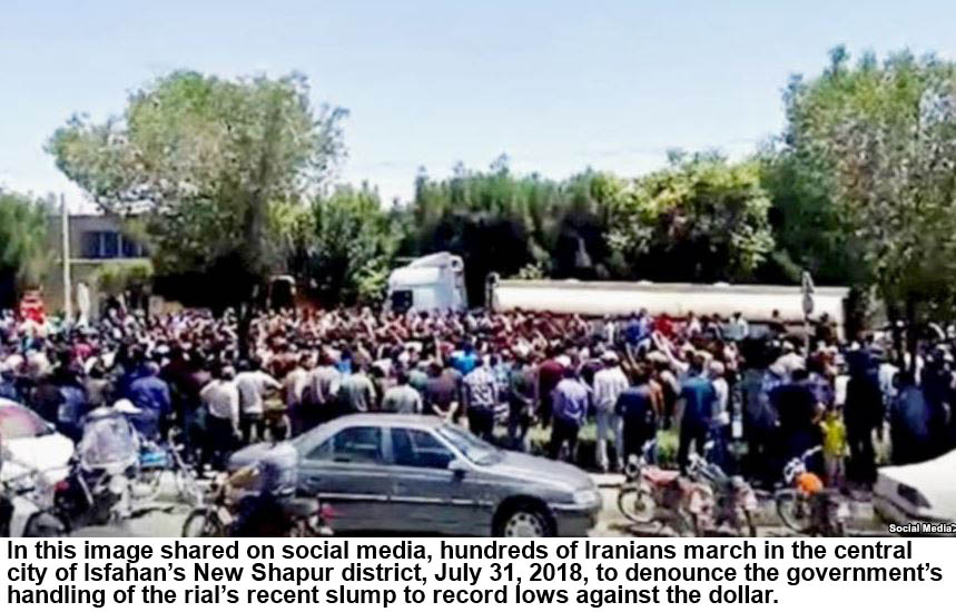 Scattered protests in Iran as USA  sanctions loom