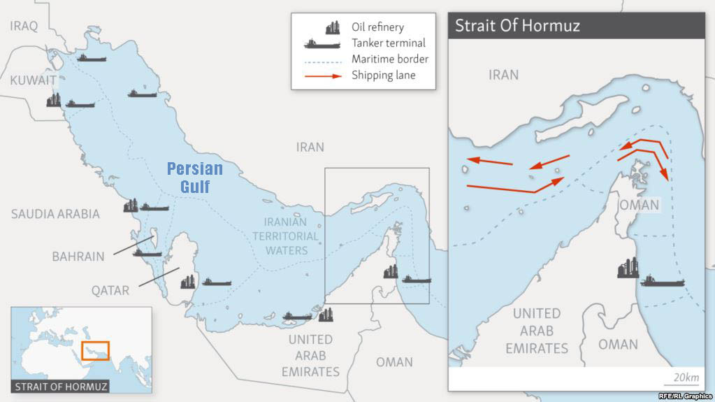 U.S. Aircraft Carrier Arrives In Persian Gulf, Shadowed By ...