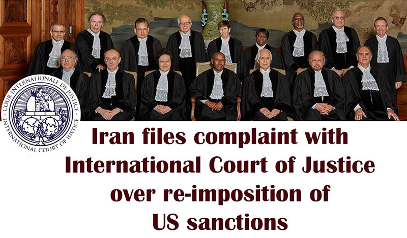 Iran Lodges Complaint Against U.S. Over Sanctions