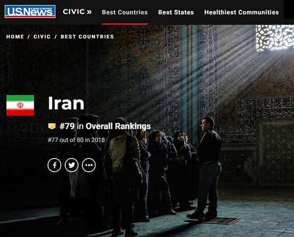 Iran ranked 13th most powerful country in the world