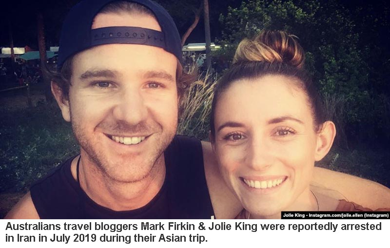 Perth's Mark Firkin and Jolie King released from Iran prison